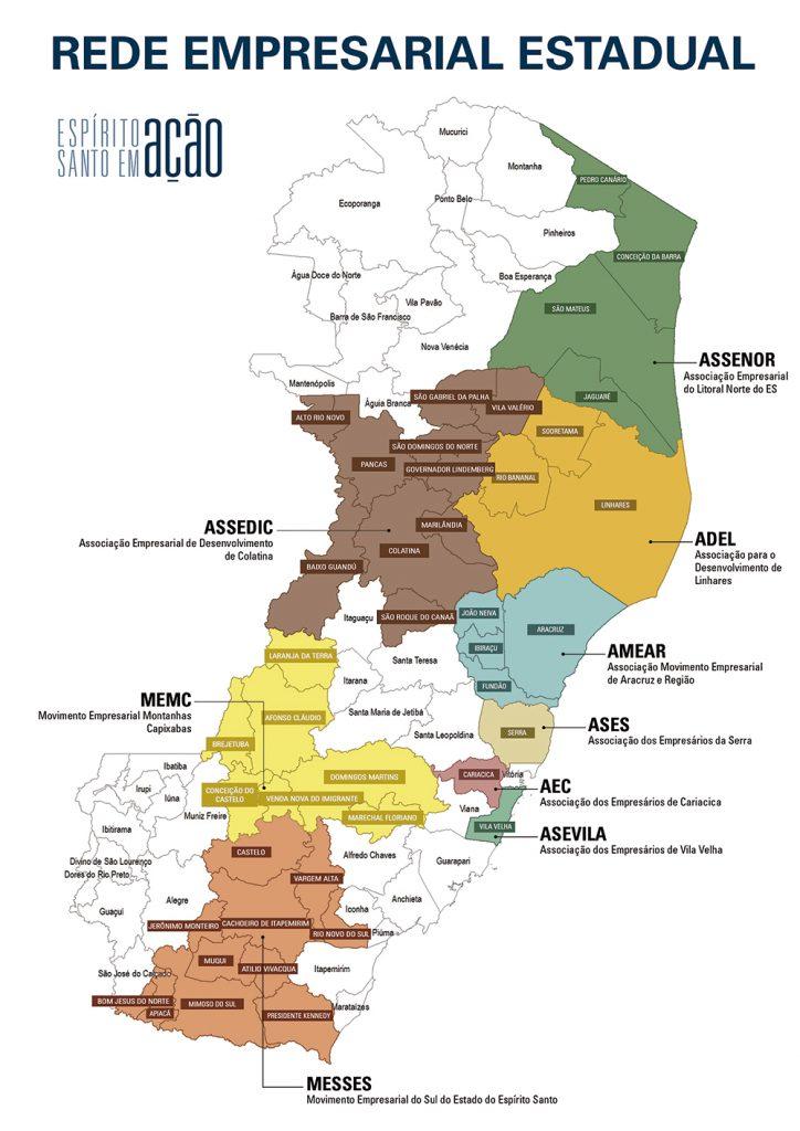 Mapa da Rede Empresarial Estadual